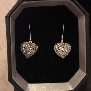Beighten .925 SILVER Heart earrings